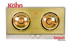 Đèn sưởi nhà tắm Braun Kohn 2 bóng vàng