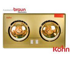 Đèn sưởi nhà tắm Braun (2 bóng vàng)