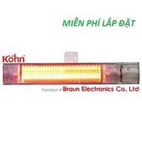 Đèn sưởi Braun Kohn K150 Cao cấp (điều khiển, chống nước )