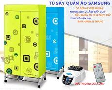 Máy sấy quần áo Samsung điều khiển, đèn UV, khung gấp