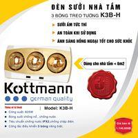 Đèn sưởi nhà tắm Kottmann  (3 bóng)