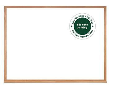 Bảng từ trắng khung gỗ tự nhiên sơn phủ bóng
