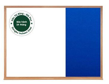 Bảng combo từ trắng + ghim vải nỉ khung gỗ
