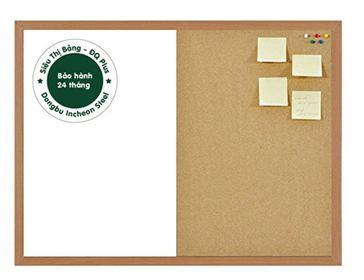Bảng combo từ trắng + ghim lie khung gỗ