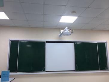 HÌNH ẢNH:Lắp đặt bảng trượt ngang cho Học viện Tài Chính