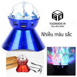 Loa phát sáng hình cầu đèn LED hỗ trợ chơi nhạc từ thẻ nhớ