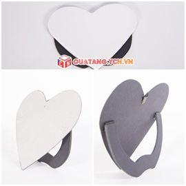 Gạch men in ảnh hình trái tim có chân đế quà tặng lãng mạn