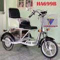 Xe lăn điện 3 bánh tự chế có 2 ghế ngồi HA699B