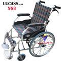 Xe lăn hợp kim nhôm Lucass X63 hoặc X63L kẻ cho người nhỏ nhẹ