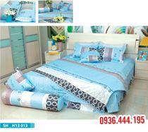 Chăn ga gối Home H13 013, ga rèm cho giường 1.6 x 2.0m