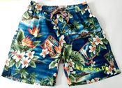 Quần short hoa nam đi biển Aberich SH16 hình cây dừa, hoa lá