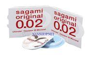 Bao cao su mỏng nhất thế giới, không gây dị ứng SAGAMI Original 0.02