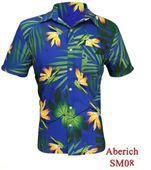 Áo hoa nam hawaii đi biển ngắn tay đẹp Aberich SM08