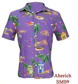 Áo sơ mi nam Hawaii đẹp đi biển Aberich SM09