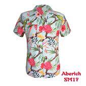 Áo sơ mi nam họa tiết bông hoa, chim vẹt Aberich SM17