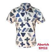 Áo sơ mi nam họa tiết cách điệu Aberich SM22