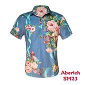 Áo sơ mi nam họa tiết hoa hồng Aberich SM23