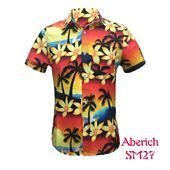Áo sơ mi nam họa tiết cây dừa cực độc Aberich SM27