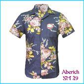 Áo cộc tay nam họa tiết hoa lá Aberich SM29