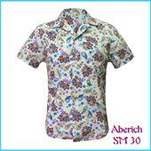 Áo sơ mi nam ngắn tay họa tiết hoa Aberich SM30