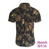 Áo sơ mi ngắn tay đi chơi cho nam họa tiết cây dừa Aberich SM36