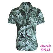 Áo sơ mi nam ngắn tay in họa tiết Aberich SM43