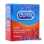 Bao cao su siêu mỏng Durex Love hộp 3 chiếc