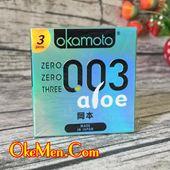 Bao cao su siêu mỏng Okamoto 003 Aloe H3c