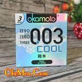 Bao cao su Okamoto 003 Cool siêu mỏng, mát lạnh