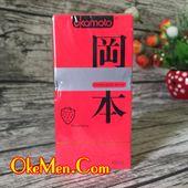 Bao cao su hương dâu tây Okamoto Strawberry H10c