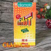 Bao cao su siêu gai nổi Okamoto Dot Hot H10c