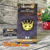 Bao cao su siêu mỏng Okamoto Crown truyền nhiệt tốt
