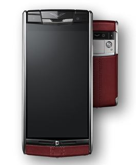 Vertu Signature Touch Claret Calf