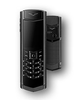 Vertu Signature S Clous De Paris Pure Black
