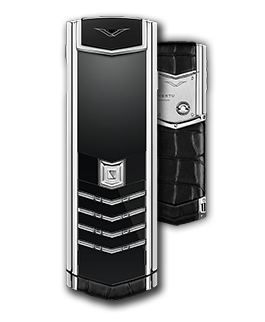 Vertu Signature S Black Alligator Stainless Steel