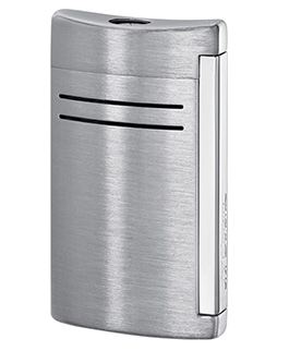 S.t. Dupont Minijet Torch Flame Lighter Brushed Chrome 10067