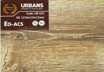 Sàn gỗ Urbans 12mm AC5 bản nhỏ