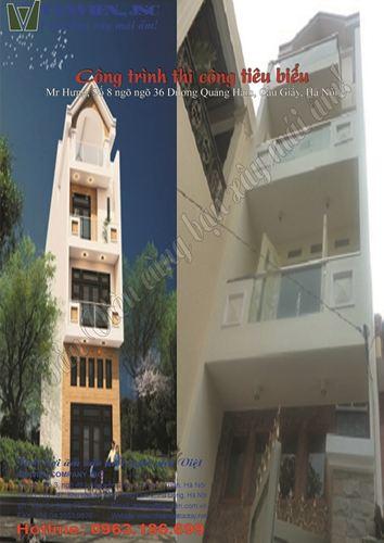 Xây nhà trọn gói - Nhà phố số 8 ngõ 36 Dương Quảng Hàm, Cầu Giấy