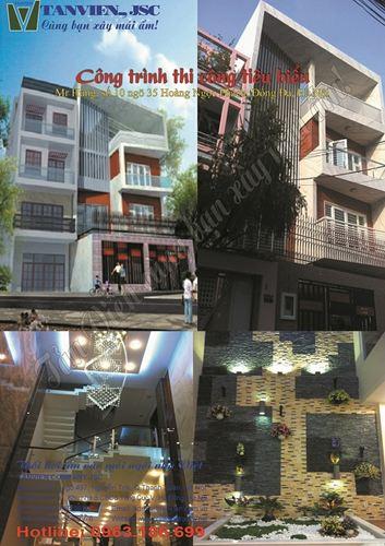 Xây nhà trọn gói - Nhà phố số 10 ngõ 35 Hoàng Ngọc Phách, Đống Đa