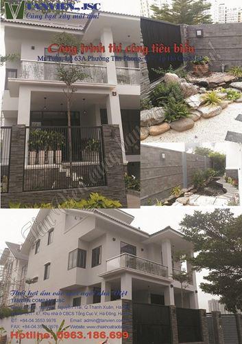 Xây nhà trọn gói - Biệt thự lô A63, P Tân Phong, Q7, Tp HCM
