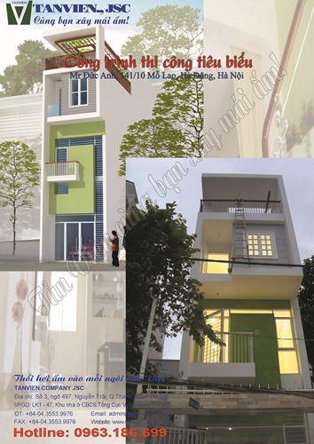 Xây nhà trọn gói - Nhà phố 141/10 Mỗ Lao, Hà Đông