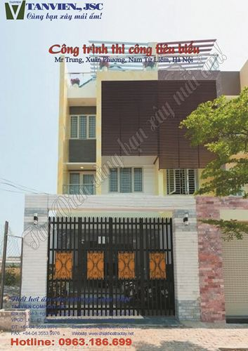 Xây nhà trọn gói - Nhà phố Xuân Phương, Nam Từ Liêm