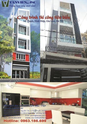 Xây nhà trọn gói - Nhà phố Ninh Hiệp, Gia Lâm