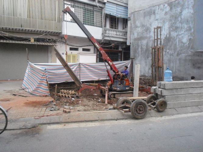 Ép cọc bê tông Nhà số 37 Yên Hoa, Tây Hồ - HN