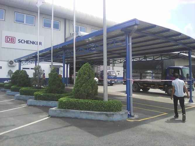 Thi công Nhà để xe tại KCN Sóng Thần, Bình Dương
