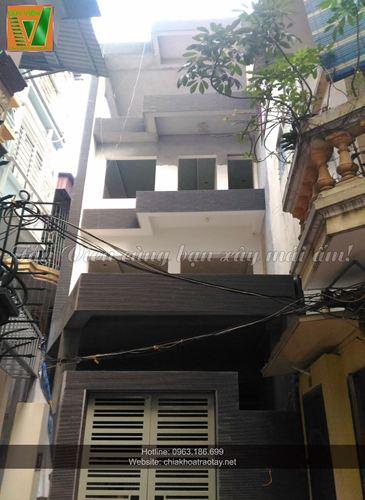 Xây nhà trọn gói - Nhà Mrs Hà anh Phú ngõ 5 Hoàng Quốc Việt, Hà Nội