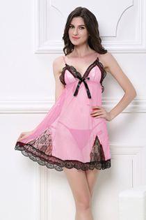 Đầm Ngủ Xuyên Thấu 0612 Hồng