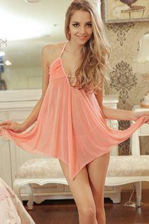 Váy Ngủ Cột Dây Gợi Cảm 0634 Cam