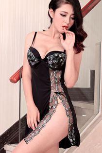 Váy Ngủ Tạo Cảm Giác Ngực To Hơn 0641 Đen
