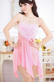 Váy Ngủ Trái Tim Hồng 0568